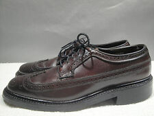 MENS VINTAGE 8 D CROWN IMPERIAL USA BROWN LEATHER BROGUE WINGTIP OXFORD