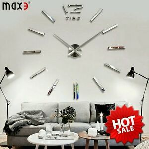 3D Metal Large Wall Clock