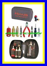 Kit Riparazione Gonfiaggio pneumatici MOTO Tubeless da viaggio pneumatico ruota