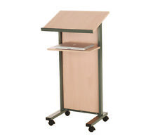 More details for wonderwall mobile lectern in maple - office, school, exhibition, presentations