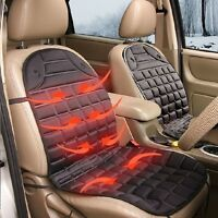 Winter Car Heated Seat Cushion Hot Cover Auto 12V Heat Heating Warmer Pad- Black