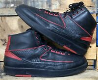 Nike Air Jordan 2 II Retro Alternate 87 Black Varsity Red 834274-001 Men's 12
