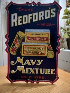 Vintage Shop Advertising Display Card