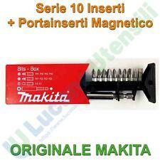Set 10 Inserti Bit Avvitatore Avvitatura MAKITA con Portainserti Magnetico PH PZ