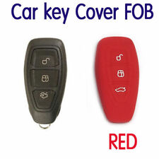 REMOTE KEY FOB SILICONE CASE Fits FORD RANGER MONDEO FIESTA FOCUS TITANIUM RED