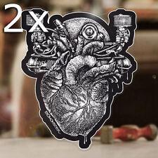 2x Stück BOMONSTER Airheart Sticker Autocollante Käfer Aircooled Cox Aufkleber