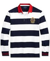 ***5XB***Polo Ralph Lauren Men's Stripe Iconic Rugby Classic Fit Polo Shirt