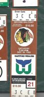 1989 12/30 ticket stub Hartford Whalers v Chicago Blackhawks Chicago Stadium