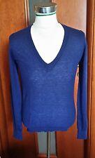 maglioncino Tommy hilfilgher pullover sweater cashmire 100% donna blu M
