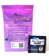 Male-Factor Pak With Pre-seed Lubrication