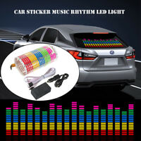 Car Music Rhythm Flash Light Sound Activated Equalizer Lamp Car glass stickers