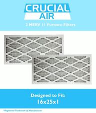 2 MERV 11 Allergen Air Furnace Filters 16x25x1