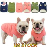 Waterproof Warm Winter Dog Coat Clothes Dog Padded Vest Pet Puffer Jacket S-XXL