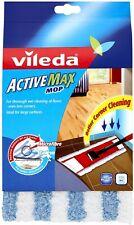 Vileda Active Max Flat Mop Refill - White/Blue