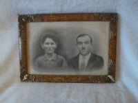 ancien cadre art déco photo d'un couple  (REF 196)