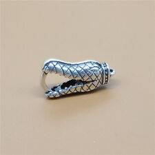925 Sterling Silver Animal Crocodile Lobster Claw Clasp for Bracelet Necklace