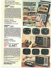 1977 ADVERTISEMENT Electronic Game Mathemagician Coleco Telstar Ranger Combat