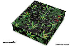 Skin Decal Wrap for PIONEER DJM-600 DJ Mixer CD Pro Audio DJM600 Parts WEEDS BLK