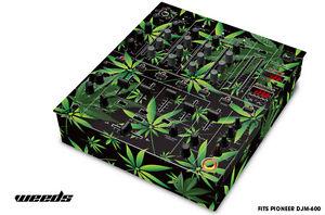 Skin Decal Wrap for PIONEER DJM-600 DJ Mixer CD Pro Audio DJM600 Parts WEEDS BLK