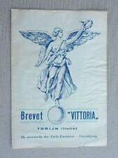 Depliant catalogo Vittoria Giuseppina cambio bici Epoca vintage biciclette