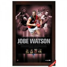 ESSENDON BOMBERS JOBE WATSON 2012 AFL BROWNLOW MEDALLIST SIGNED PIECE FRAMED