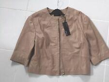 NEW Autograph M&S Ladies Leather Jacket biker 8-10 BNWT