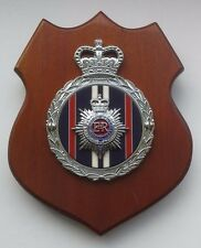 Royale Mahogany Wall Plaque - ROYAL CORPS of TRANSPORT Chromed Brass Car Badge