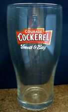 NEW BRITISH / UK - COURAGE COCKEREL SMOOTH BITTER PINT BEER GLASS. (PRE 2006).