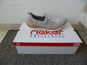 Rieker Ladies Slippers Sneakers Trainers Sneaker Low Shoes Grey/ Multi New