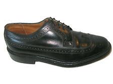 Vtg Mason Imperials Long Wingtips Oxford Brogue Dress Shoes 8 D Black USA Made