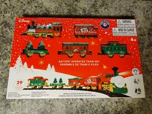Disney Lionel Model Train Set Battery Operated 29 pcs Mickey Mouse Christmas