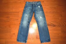 American Eagle Outfitters BOOTCUT Blue Jeans - Men Size 28 x 30 Awesome Distress