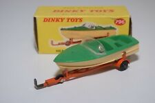 DD 1:43 DINKY TOYS 796 HEALEY SPORTS BOAT ON TRAILER GREEN NEAR MINT BOXED