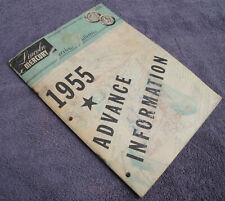 ORIGINAL FORD PRINTING -1955 LINCOLN MERCURY ADVANCE INFORMATION SERVICE BOOK