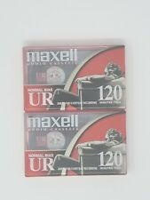 New listing Maxell Ur 120 Minutes Normal Bias Blank Audio Cassette Tapes Brand New Lot of 2