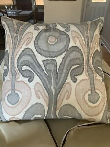 Set Of 2 Pottery Barn Ikat Pillow Covers Blush