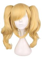 Ponytail Wig Long Synthetic Hairpiece Wavy Blonde Style For Cute Cosplay Costume