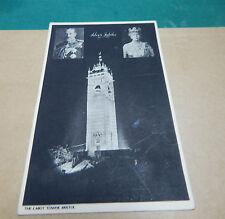 Georg V silver Jubilee postcard The Cabot tower Bristol  art.