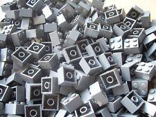 LEGO DARK GRAY 2 X 2 BRICKS ( 40 EA )