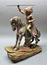 "Rare & Massive 22"" SIGNED AMPHORA AUSTRIA Art Nouveau Pottery  Indian"