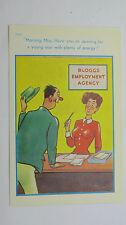 1950s Risque Funny Postcard Employment Recruitment Agency Job Centre Big Boobs