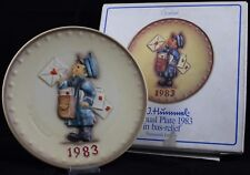 "HUMMEL JAHRESTELLER 1983 HUM 276 IN OVP ""POSTMAN / EILBOTE"" GOEBEL ANNUAL PLATE"