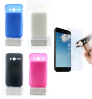 "Case Cover Gel TPU Silicone For Alcatel PIXI 4 - 4"" + Optional Protector"