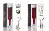Upside Down Wine Bottle Glass Giant Drinking Vessel Womens Ladies Novelty Gift