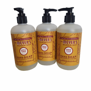 Mrs. Meyer's Clean Day Hand Soap APPLE CIDER, Limited Edition, LOT 3 - 12.5 oz