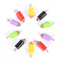 10PCS Mixed Pencil Jewelry Crafts Charm Pendant Keychain Necklace DIY FindingS!