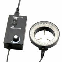 60LED verstellbaren Ring Licht Beleuchtung Lampe für Stereo-Zoom Mikroskop EU