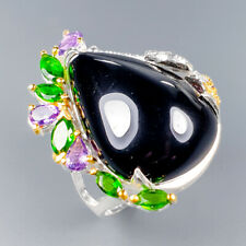 Handmade Natural Spinel 925 Sterling Silver Ring Size 9/R117512