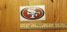 "San Francisco 49ers Vinyl Decal 3"" x 5"" SF Yeti Cup Rtic Tumbler NFL Car Sticker"