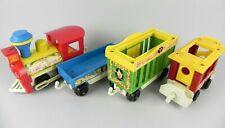 Treno trenino circo FISHER PRICE vintage gioco 3 carrozze locomotiva bambini